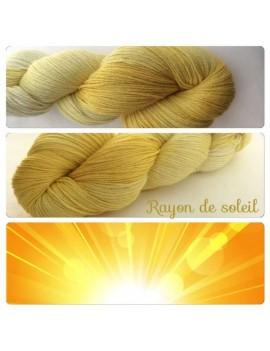 fil fingering alpaga & soie Rayon de Soleil
