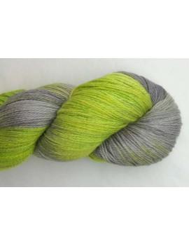 fil fingering alpaga & soie Souris Verte