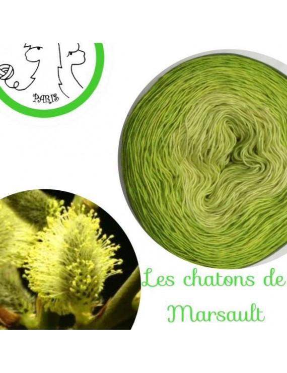 """Kit Hélios single fingering Mérinos et Soie """"Les Châtons de Marsault"""""""