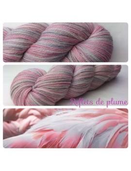 "Fil fingering Alpaga & Soie ""Reflets de Plume"""