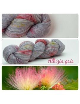 "Single fingering Alpaga Seacell ""Albizia Gris"""