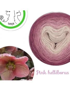 "Fil fingering Alpaga Soie (long gradient yarn cake) ""Pink Helléborus"""