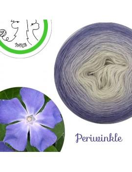 "Fil fingering Alpaga Soie (long gradient yarn cake) ""Periwinkle"""
