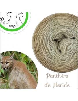 "Single fingering Alpaga Seacell (gradient yarn cake) ""Panthère de Floride"""