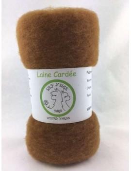 """Laine cardée 100 % Mouton Ile de France """"Fauve"""""""