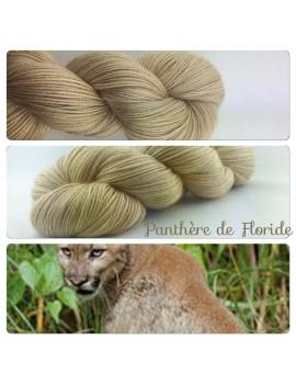"""Fil fingering Alpaga & Soie """"Panthère de Floride"""""""