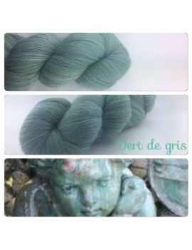 """Vert de Gris"" Fil lace Baby Alpaga"