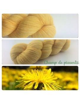 """""""Champ de Pissenlit"""" Fil lace 75 % Baby Alpaga 25 % Soie"""