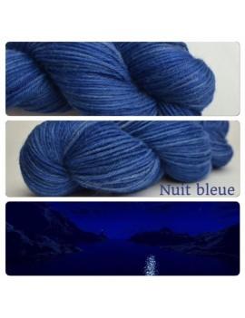 """Nuit Bleue"" Fil DK 100 % Baby Alpaga"
