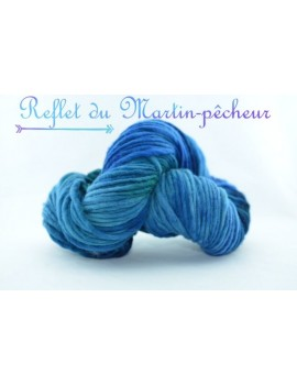 """""""Reflet du Martin Pêcheur"""" Super Merino"""
