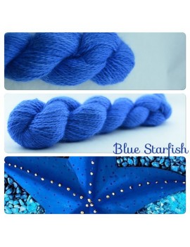 """Blue Star Fish"" Angora & Baby Alpaga"