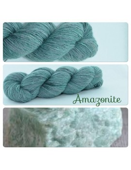 """Amazonite"" Single fingering Alpaga Soie Angelina"
