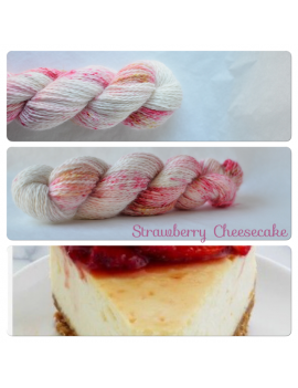 """Strawberry Cheesecake"" Angora & Baby Alpaga"