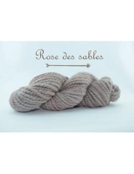 """Rose des Sables"" Fil Super Bulky 100 % baby Alpaga"