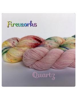 """""""Fireworks+Quartz"""" Sock Yarn Merino Alpaca & Nylon"""