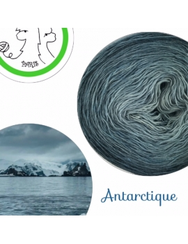 Antarctique Fil Single Fingering Mérinos et Soie (long gradient yarn cake)