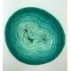 """Perles de Malachite"" Fil Single Fingering Mérinos (long gradient yarn cake)"