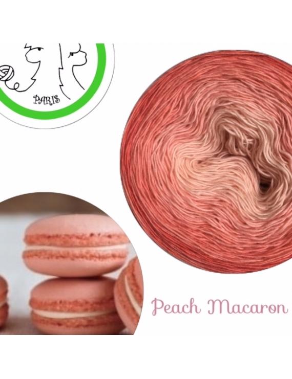 """Peach Macaron"" Fil Single Fingering Mérinos (long gradient yarn cake)"