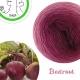 """Beetroot"" Fil Single Fingering Mérinos (long gradient yarn cake)"