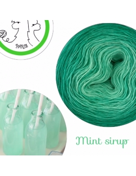 """Mint Sirup"" Fil Single Fingering Mérinos (long gradient yarn cake)"