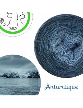 """Antarctique"" Single Fingering Merino (long gradient yarn cake)"