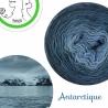 """Antarctique"" Fil Single Fingering Mérinos (long gradient yarn cake)"