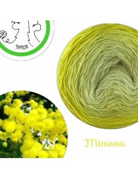 """Mimosa"" Fingering Baby Alpaca & Silk Yarn (gradient yarn cake)"