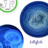 """Jellyfish"" Fil fingering Baby Alpaga et Soie (long gradient yarn cake)"
