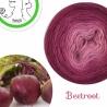 """Beetroot"" Fil fingering Baby Alpaga et Soie (long gradient yarn cake)"