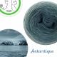 """Antarctique"" Fil fingering Baby Alpaga et Soie (long gradient yarn cake)"