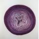 """Hortensia"" Fil fingering Baby Alpaga et Soie (long gradient yarn cake)"