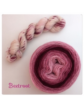 """Beetroot"" Double Gradient Sock Yarn Merino Alpaca & Nylon"