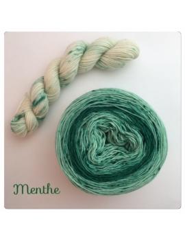 """Menthe"" Double Gradient Sock Yarn Merino Alpaca & Nylon"