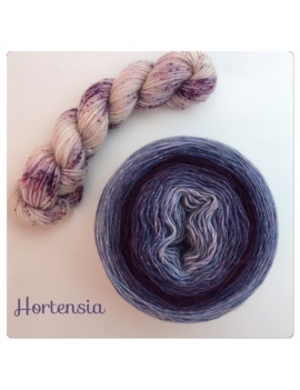"""Hortensia"" Double Gradient Sock Yarn Merino Alpaca & Nylon"