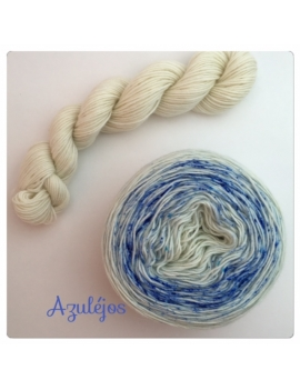 """Azulejos"" Double Gradient Sock Yarn Merino Alpaca & Nylon"