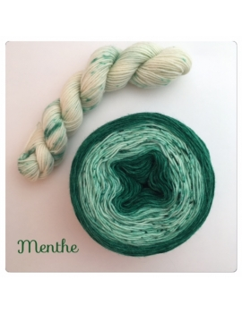 """Menthe"" Double Gradient Sock Yarn Merino Alpaca & Nylon"