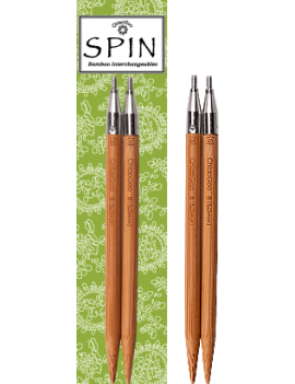 "10 cm Chiaogoo SPIN Bamboo Tips (4"") Interchangeables"