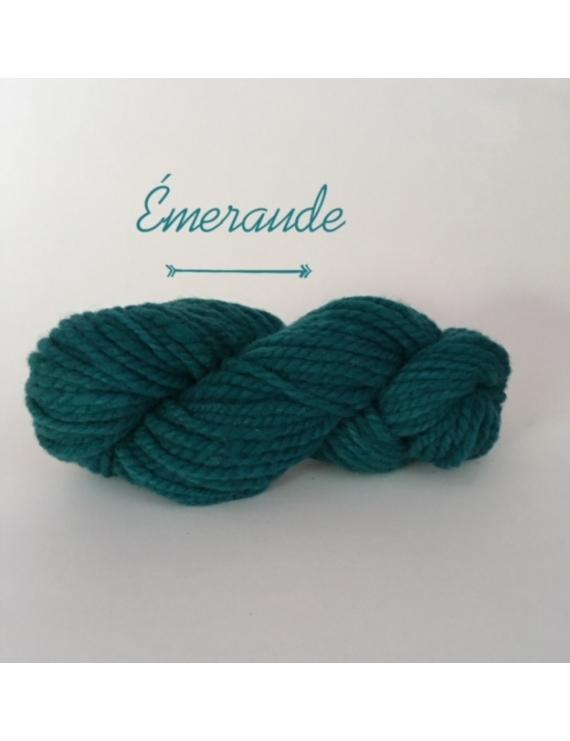 """Emeraude"" Fil Super Bulky 100 % Mouton Ile de France"