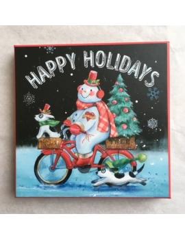 """Christmas Box """"Bonhomme de Neige à Vélo"""" Gradient"""