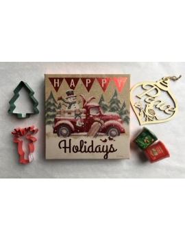 """Christmas Box """"Bonhomme de Neige en Camion"""""""