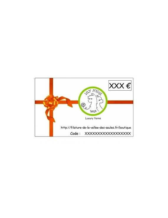 Carte Cadeau Lily Neige