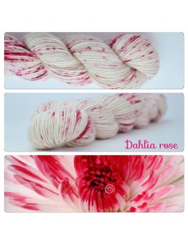 "Single fingering Alpaga Rose Fiber ""Dahlia Rose"""