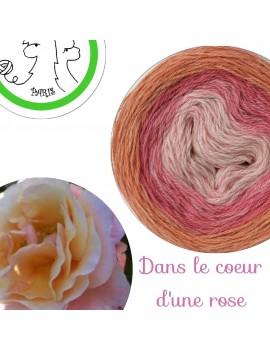fil fingering alpaga soie cachemire Danse dans le Coeur d'une Rose
