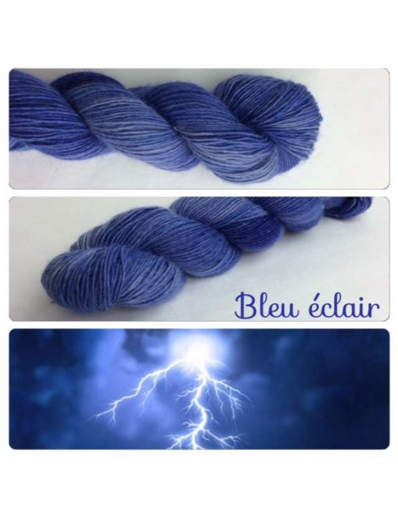 Single fingering Alpaga ROSE FIBRE bleu eclair
