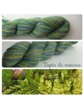 fil fingering alpaga & soie Tapis de Mousse