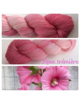 fil fingering alpaga & soie Rose Trémière