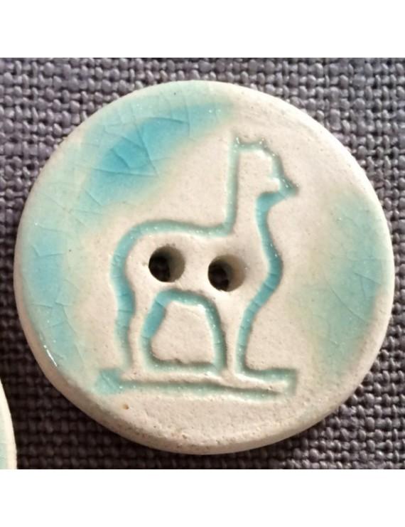 Bouton alpaga en céramique émaillée