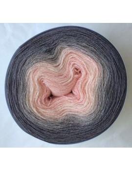 fil lace gradient yarn alpaga soie éléphant rose