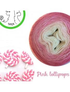 fil fingering alpaga soie Pink lollipops