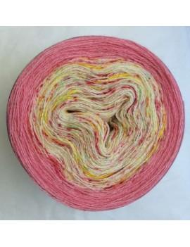 fil lace gradient yarn alpaga soie Bonbons Arlequin